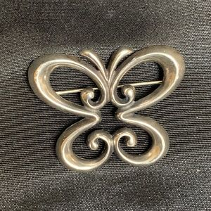 Retired James Avery Sterling Butterfly Brooch